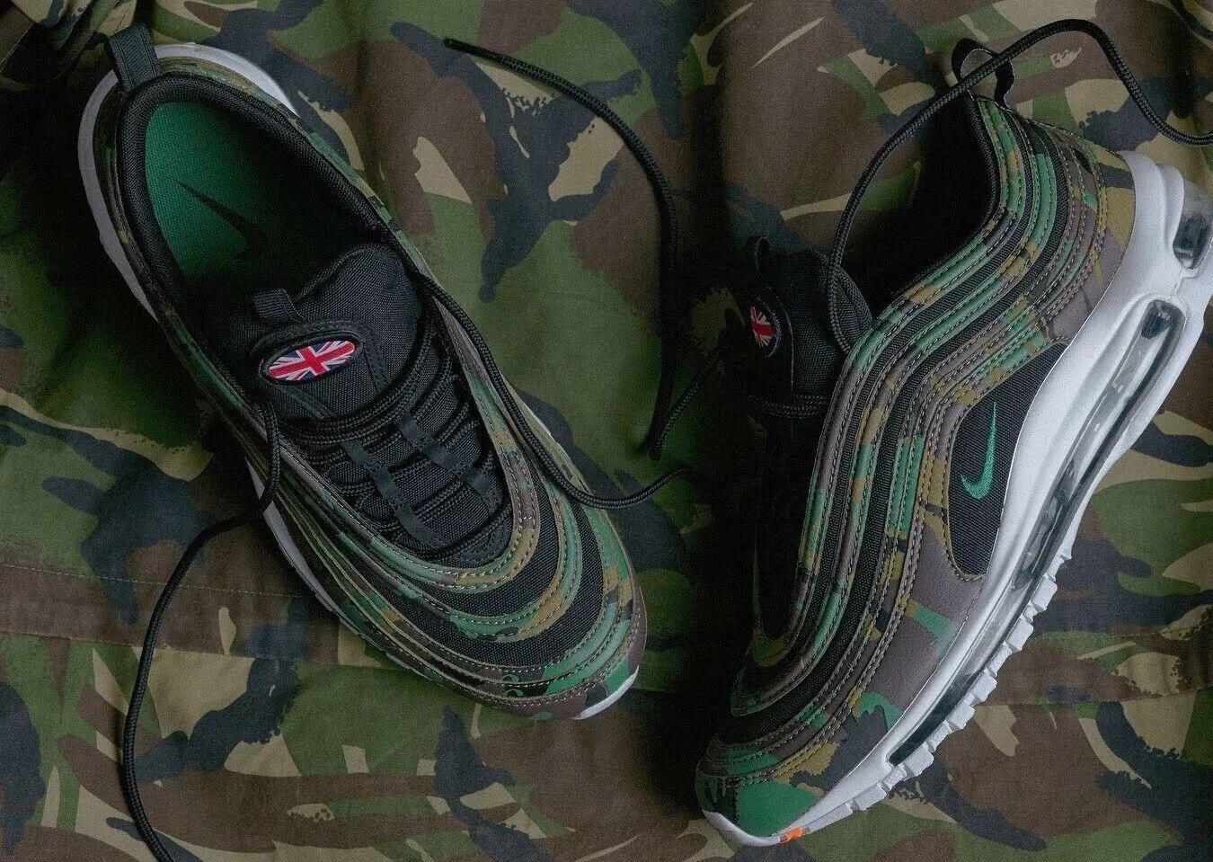 Nike Air Max 97 Country Camo 'UK' Premium QS AJ2614-201 UK 6 EU 40 25cm New