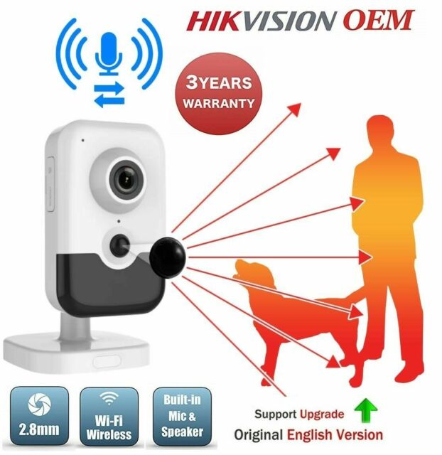 Hikvision DS-2CD2442FWD-IW 4MP 2.8mm IP PoE Indoor IR Wireless WiFi Cube Came...