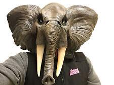 African Elephant Animal Mask Overhead Latex Safari Fancy Dress Costume Masks