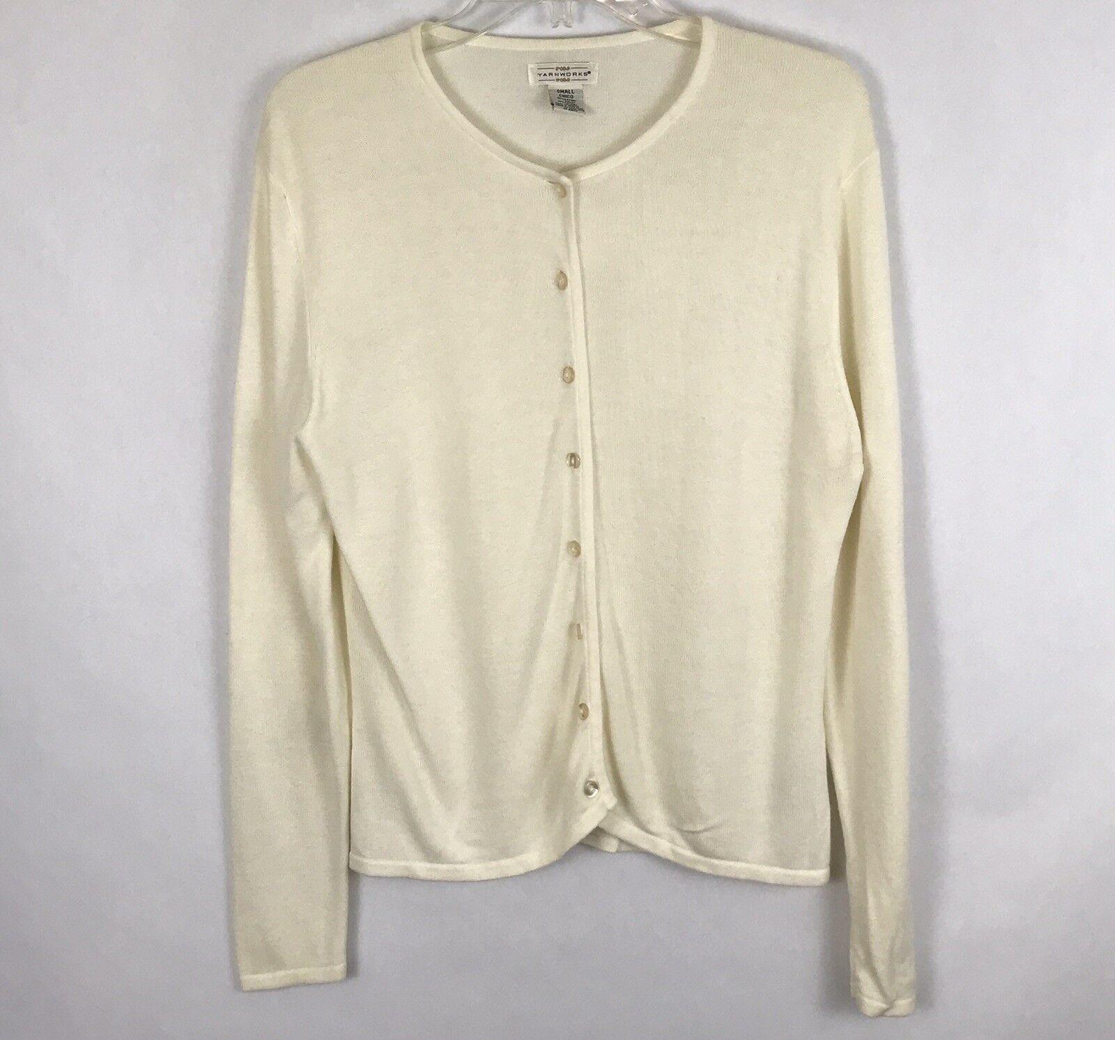 Yarnworks Womens Sweater Size Small Beige Long Sleeve…   Gem