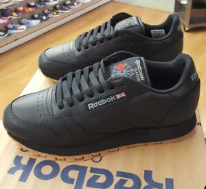 Image is loading REEBOK-CLASSIC-LEATHER-49798-BLACK-GUM-MEN-US-