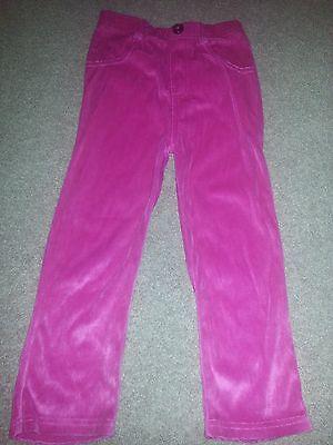 Garanimals 5t Hot Pink Soft Velor Felt Pants Jean Style Only Back Working Pocket Shrink-Proof Bottoms Girls' Clothing (newborn-5t)