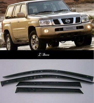 For Nissan Patrol Y62 2010-2019 Window Visors Sun Rain Guard Vent Deflectors