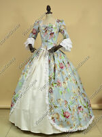 Renaissance Colonial Princess Prom Dress Gown Reenactment Theater Clothing 146