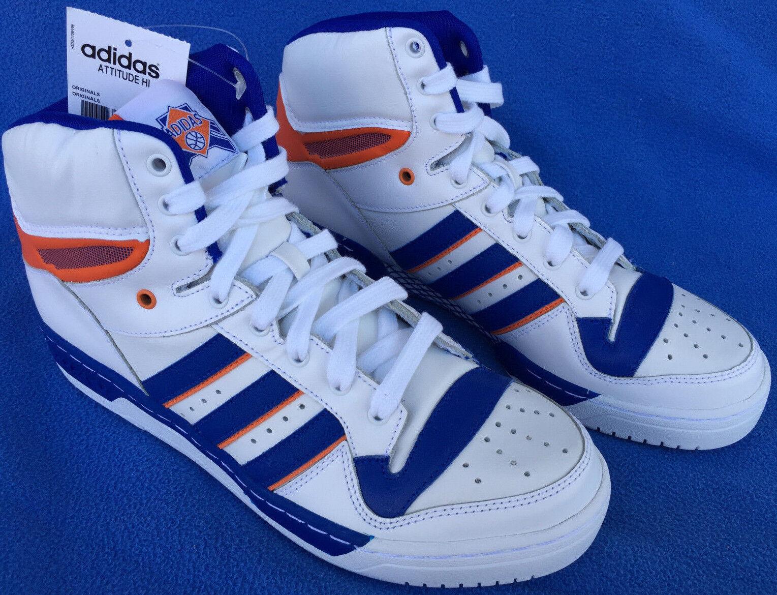 quality design dda70 d9878 new Adidas Attitude HI NY Knicks D73897 Retro Ewing Basketball Shoes Men s  9 NBA durable service