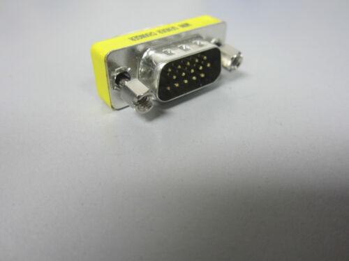 VGA MALE TO MALE M-M 15PIN Gender Changer Adapter HDB15