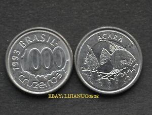 BRAZIL-Brasilien-Muenzen-1-000-Cruzeiros-Acara-fish-km626-COIN-CURRENCY