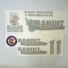 Brush Bandit Wood Chipper Model 254xp Decal Kit Aftermarket Repro Uv Laminated