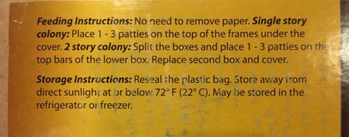 2 lbs 18/% Pollen Patty Honeybee Food // Qty x One Pound Patties Ultra Bee 2
