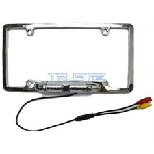 Car License Plate Frame Rearview Backup Camera 8 IR Night Vision Chrome Silver