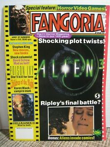 Fangoria-113-June-1992-Alien-3-Army-of-Darkness-Pull-out-Poster-Gate-II