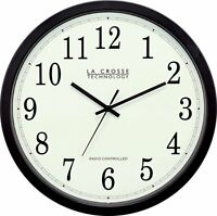 La Crosse Technology Wt-3143a-int 14-inch Atomic Wall Clock, Black, on sale