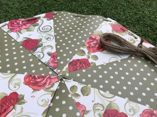 Fresh gras Big Floral Imperméable Extérieur PVC banc de jardin coussins de siège Bunting