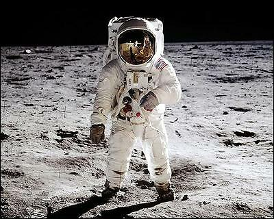 NASA APOLLO 11 BUZZ ALDRIN ON THE MOON 11x14 PHOTO