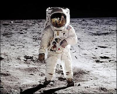 NASA APOLLO 11 BUZZ ALDRIN ON THE MOON 11x14 PHOTO