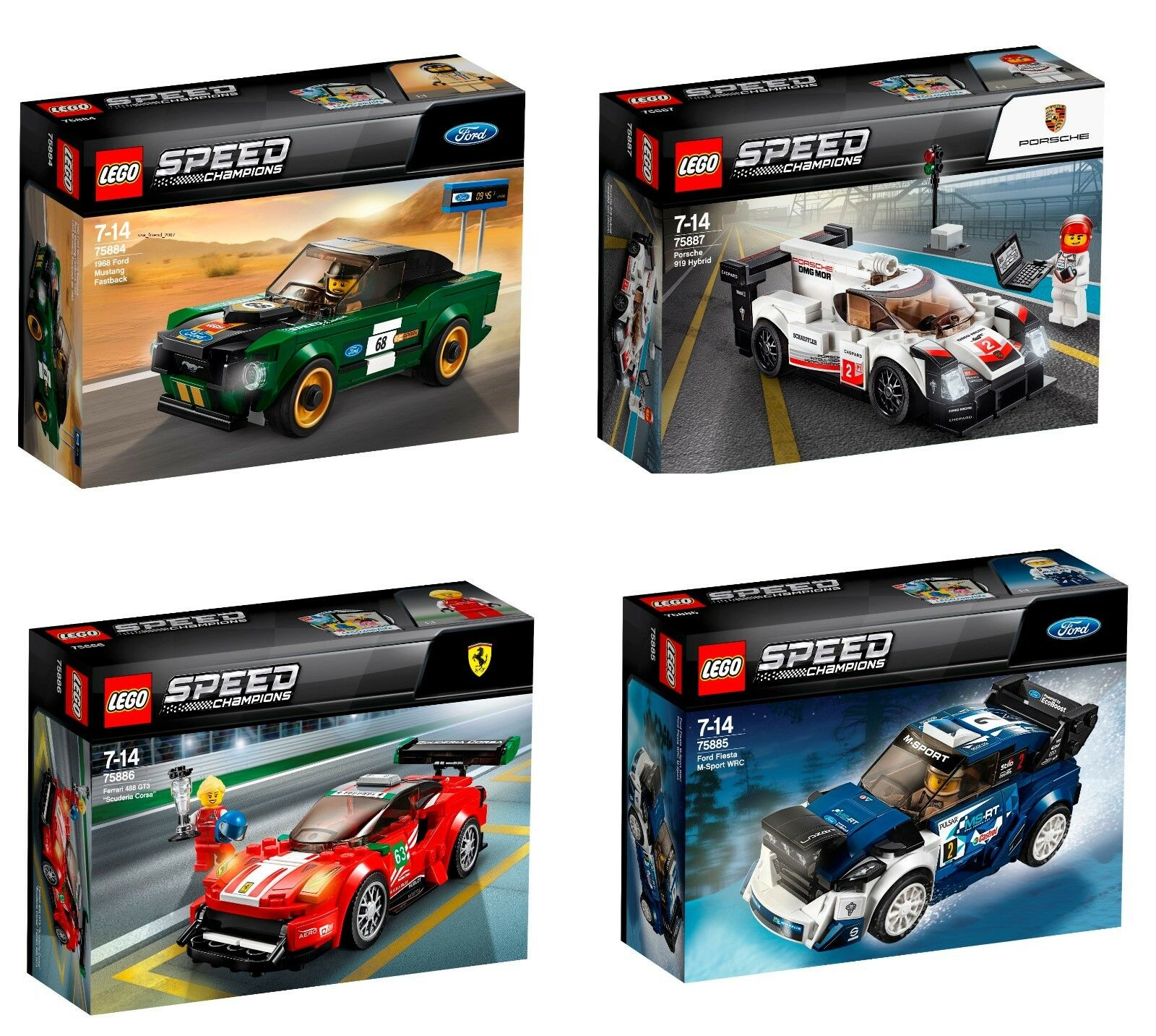 LEGO® LEGO® LEGO® Speed Champions COLLECTION 2018 4tlg.  75884 - 75885 - 75886 - 75887 42395e
