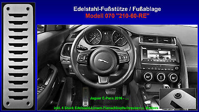 Automatik Pedalset Pedale Pedalkappen Edelstahl für Jaguar E-PACE ab 2017