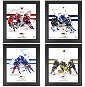 "NHL Teams Framed 15"" x 17"" Franchise Foundations Collage & Piece of GU Puck"