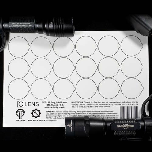 THYRM Made in the USA CLENS Flashlight Gun Firearm LENS PROTECTORS Cover