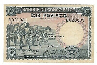 Reproductions UNC Belgian Congo 100 Francs Emission 1944