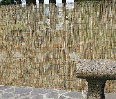 Arelle di bamboo, cannette ombreggianti, arella stuoia frangivista m.2x5 / 2x3