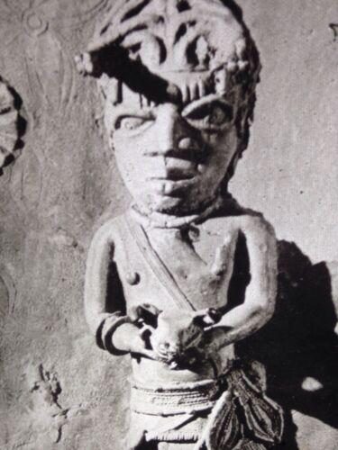 Bronze Plaque Benin Kola Nut Box-African Nigerian Tribal Art 35mm Slide