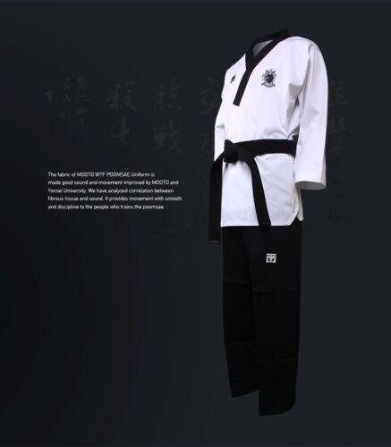 Mooto WTF Poomsae Dan Uniform Male Dobok Korean Taekwondo Uniforms Tae Kwon Do
