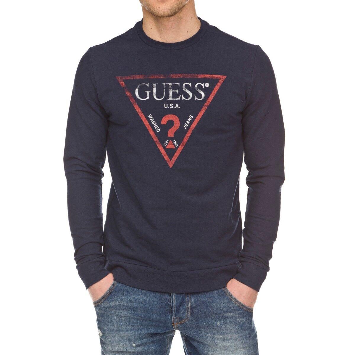 Pull Guess homme M81Q00 G720 Bleu