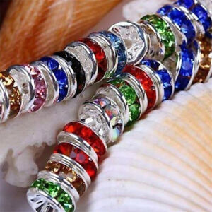 100Pcs-Colorful-Crystal-Rhinestone-Rondelle-Spacer-Beads-Jewelry-Making-DIY