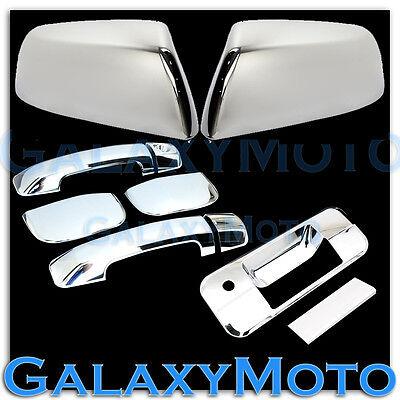 07-13 TUNDRA TRIPLE Chrome TOP HALF Mirror+4 Door Handle no PSG+Tailgate Cover