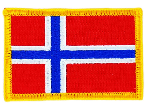 FLAG PATCH PATCHES NORWAY NORWEGIAN IRON ON COUNTRY EMBROIDERED SMALL