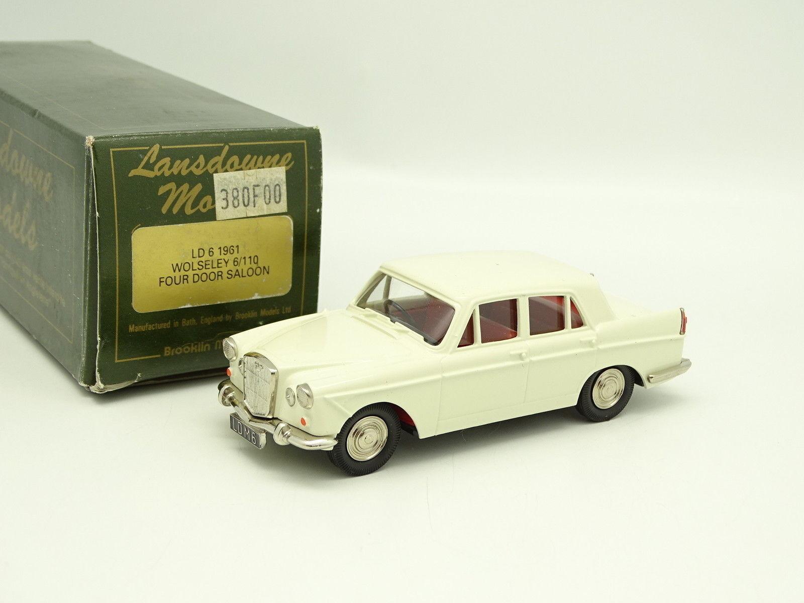 Lansdowne Models 1 43 - Wolseley 6 110 Saloon biancahe