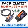 ★ EXCLUSIVITE DIAG ★ PACK DIAGNOSTIQUE MULTIMARQUES - ELM327 USB + ELM 327 WIFI