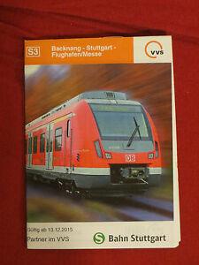 Fahrplan VVS S-Bahn S3 Backnang - Stuttgart - Flughafen Deutsche Bahn von 2016 - Deutschland - Fahrplan VVS S-Bahn S3 Backnang - Stuttgart - Flughafen Deutsche Bahn von 2016 - Deutschland