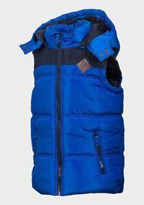 Minoti Boys Detachable Hood Padded Gilet Blue size 9-10 years