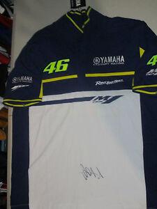 Valentino Rossi Signed Yahama Vale 46 Moto Gp Polo Shirt Photo