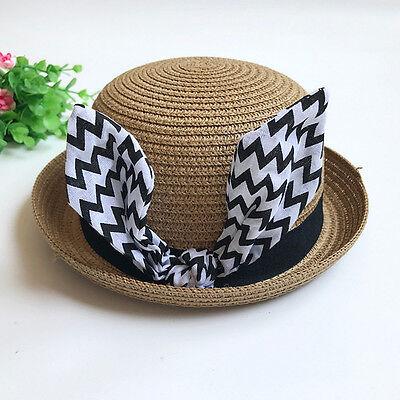 1-6 Months Newborn Baby Girl Boy Rabbit Ears Sun Bucket Basin Cap Fisherman Hat