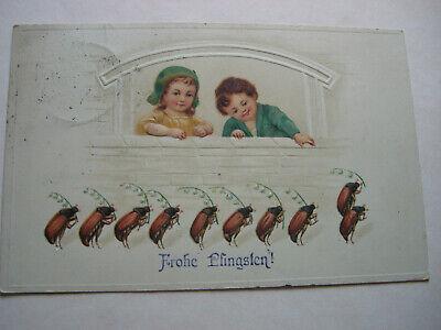 Analytisch Postkarten Antik, Pfingsten