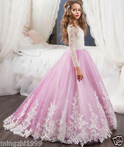 Kids Dresses For Weddings Pageant Ball Gowns Girls Birthday Flower