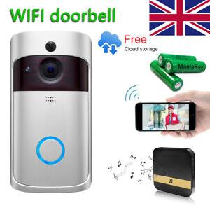 Details about Smart WiFi Doorbell Camera Video Wireless Remote Door Bell  CCTV Chime Phone APP