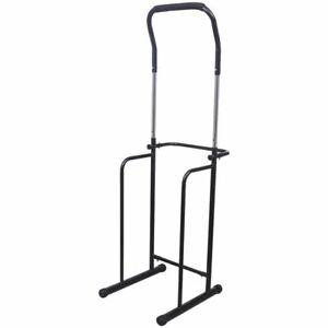 vidaXL-Adjustable-Pull-up-Dip-Station-175-224cm-Black-Weightlifting-Machine