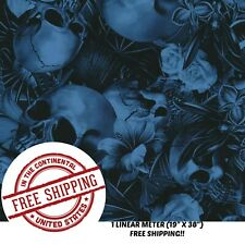 Hydrographic Film Water Transfer Hydro Dip Film Hydro Dipping Tropical Skull 1m