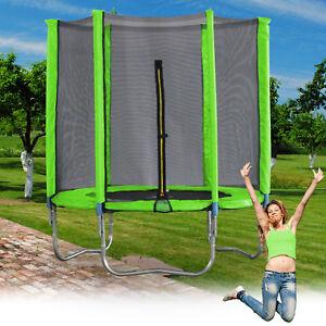 trampolin 183cm mit netz sicherheitsnetz gartentrampolin f r kinder 6ft neongr n ebay. Black Bedroom Furniture Sets. Home Design Ideas