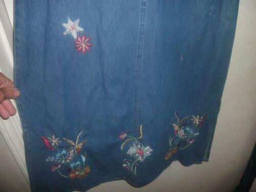 B99 NWT Agapo BLUE JEAN LONG MODEST MAXI DENIM SLEEVELESS DRESS Size M