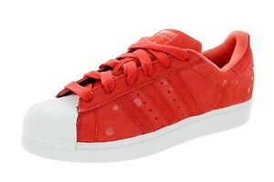 Image is loading adidas-Superstar-Originals-Tomato-Red-WHITE-Classic-Retro- c23a8b4a4