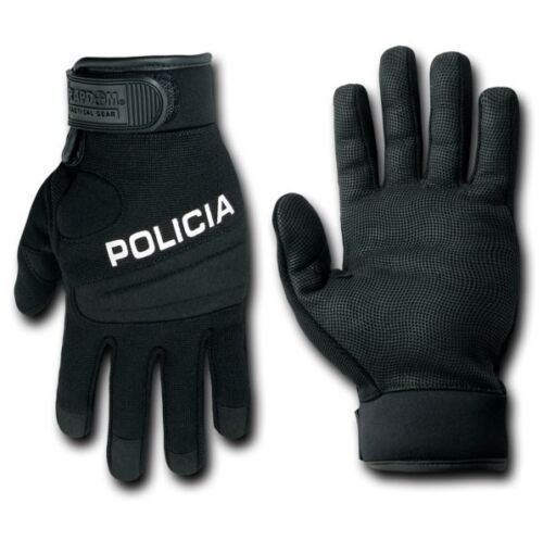 Black Digital Leather Tactical Policia Duty Hatch Gloves Glove Pair S M L XL 2XL