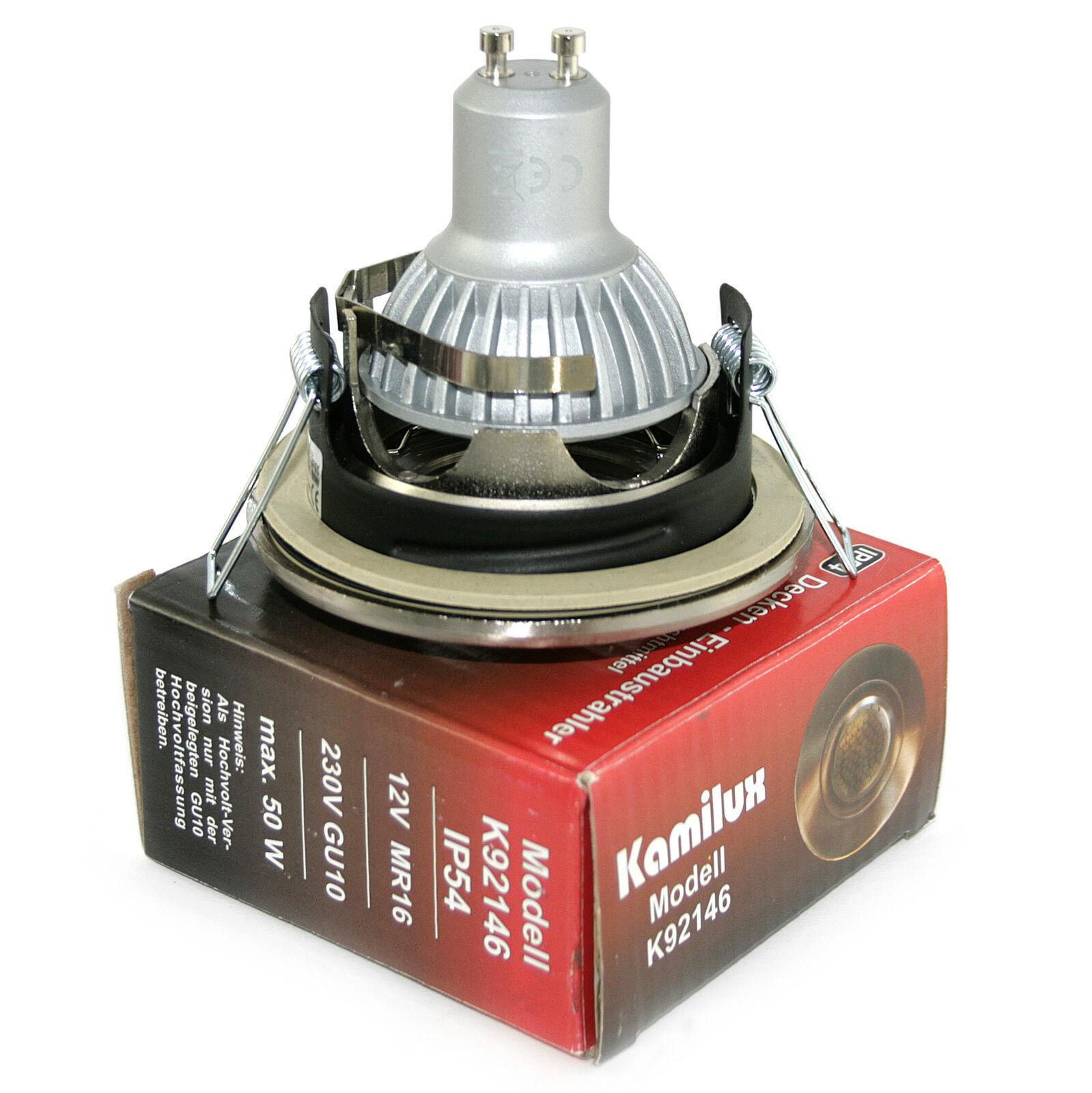 Einbaurahmen AQUARIUS 230V High Power Led 5W = = = 50W Dimmbar IP44 GU10 2a44d6