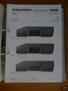 Tv, Video & Audio Zielsetzung Service Manual Grundig T 1/t 2/cl-t 6 Tuner,original BüGeln Nicht