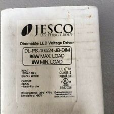 Jesco Lighting Dimmable Led Voltage Driver Dl Ps 10024 Jb Dim