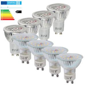 12x-10x-4x-GU10-6W-7W-MR16-FOCO-LED-Lampara-Bombilla-blanco-frio-calido-2835SMD